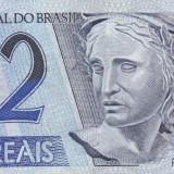 BRAZILIA 2 REAIS 1997 UNC, America Centrala si de Sud