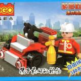 Skijet de pompieri, 35 piese, jucarie constructiva, Cogo 14601-4 - Set de constructie