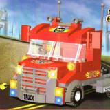 Camion TIR tip lego, 173 piese, jucarie constructiva, ZHI LING 8006 - Set de constructie