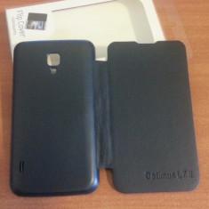Husa NEAGRA Toc Flip Cover LG Optimus L7 II Dual P715 + Folie Protectie Display CADOU - Husa Telefon