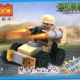 Masina de armata tip lego, 35 piese, jucarie constructiva, Cogo 14600-4 - Jocuri Seturi constructie
