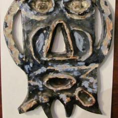 PVM - Masca din ceramica foarte frumos pictata - Arta din Africa
