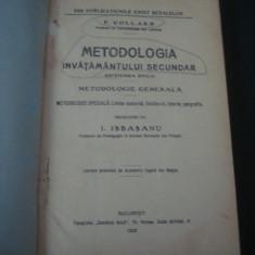 F. COLLARD - METODOLOGIA INVATAMANTULUI SECUNDAR {1922} - Carte Sociologie