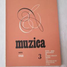 Revista Muzica 1968, nr. 3, reviste culturale vechi - Revista culturale