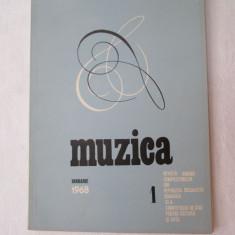 Revista Muzica 1968, nr. 1, reviste culturale vechi - Revista culturale