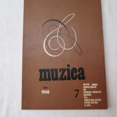 Revista Muzica 1968, nr. 7, reviste culturale vechi - Revista culturale