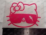 """Sticker , abtibild auto tuning moto ieftin """"COOL HELLO KITTY"""" din folie ORACAL"""