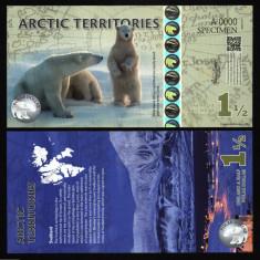 TERITORIILE ARCTICE ( ARCTIC TERRITORIES ) 1, 5 DOLLARS 2014 SPECIMEN UNC
