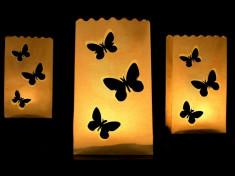 Lampioane decorative - fluturi, 10 buc / set foto
