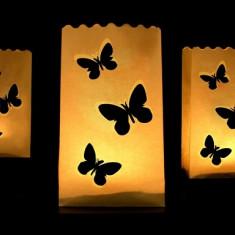 Lampioane decorative - fluturi, 10 buc / set
