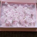 Set 70 cruciulite botez + cutie - roz