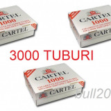 Tuburi CARTEL 1000 tuburi, filtre; TOTAL 3000 TUBURI de injectat tutun, tigari - Foite tigari