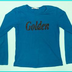 DE FIRMA → Bluza—bluzita, ornament margele, ZARA → fete | 14—16 ani | 146—168 cm, Marime: Alta, Culoare: Turcoaz