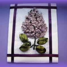 Martisor floare de liliac tip goblen 3d - Martisor speciale