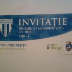 CS Universitatea Craiova-Metalul Resita (21septembrie 2013) / invitatie