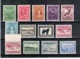 Newfoundland Terra Nova 1932 KGV, Mi #172-183**/* + 180 C**, fauna, caine, peste, MNH/MLH, rare, cota 108 Euro