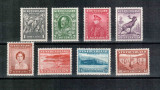 Newfoundland Terra Nova 1932 KGV, Mi #185-192**/*, caribu, MNH/MH, rare, cota 32 Euro