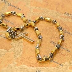 Set Lant+ Pandantiv inox placat cod 1007 - Set bijuterii inox