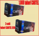 Tuburi CARTEL 1000 / 2 x 500 tuburi injectat tutun, tigari; filtre tigari