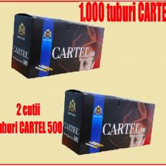 Tuburi CARTEL 1000 / 2 x 500 tuburi injectat tutun, tigari; filtre tigari - Foite tigari