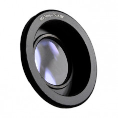 Adaptor foto M42 la DSLR Nikon - cu lentila - focalizare la infinit pentru toate DSLR Nikon - Accesoriu Proiectie Aparate Foto