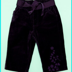 DE FIRMA → Pantaloni brodati, catifea neteda, H&M → fete | 9—12 luni + | 80 cm