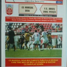 Muresul Deva-FC Arges Pitesti (24 mai) - Program meci
