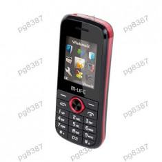 Telefon GSM Dual Sim M-Life - 400399 - Telefon mobil Dual SIM, Negru, Nu se aplica, Neblocat, Fara procesor