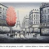 Tablou gigant - Paris in alb si negru (2) - 120x90cm, livrare gratuita 24-48h - Pictor roman, Peisaje, Ulei, Altul