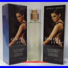 TESTER FIOLA DAMA GIORGIO ARMANI CODE - 40ML - Parfum femeie Armani, Altul