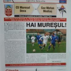 Muresul Deva-Gaz Metan Medias (21 noiembrie) - Program meci