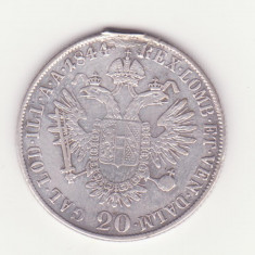 MONEDA DIN ARGINT AUSTRIA - 20 KREUZER 1844, LIT. M (MILANO) - A FOST IN SALBA, Europa