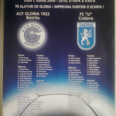 Gloria Bistrita-Universitatea Craiova (17 martie 2010) - Program meci