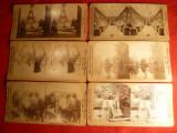 Set 6 Fotografii stereoscopice cca.1900 Griffith: Paris(3),MonteCarlo ,Florida,etc.