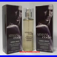 TESTER FIOLA PARFUM BARBAT GIORGIO ARMANI BLACK CODE - 40ML - Parfum barbati Armani, Altul