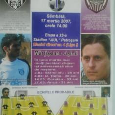 Jiul Petrosani-CFR Cluj Napoca (17 martie 2007)