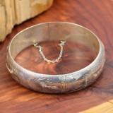 Vintage Sterling Silver (925) - Bratara exquisite, gravata, Bangle!!!, Argint