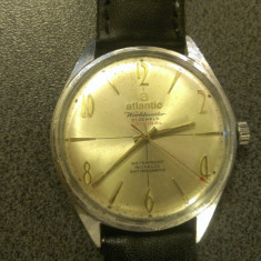 Ceas Atlantic Worldmaster 21 Jewels - Ceas barbatesc Atlantic, Mecanic-Manual, 1940 - 1969