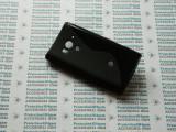 Husa protectie bumper gel TPU seria S-LINE SONY XPERIA ACRO S LT26W !, Negru