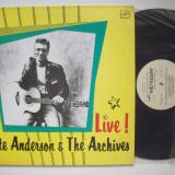 Disc vinil ( vinyl, pick-up ) PETE ANDERSON & The Archiver - Live! (Produs in Rusia) - Muzica Pop electrecord