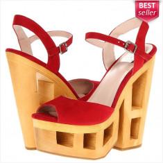Pantofi DV8 DOLCE VITA - Pantofi Dama, Femei - Piele Naturala - 100% AUTENTIC - Sandale dama Steve Madden, Culoare: Rosu, Marime: 38