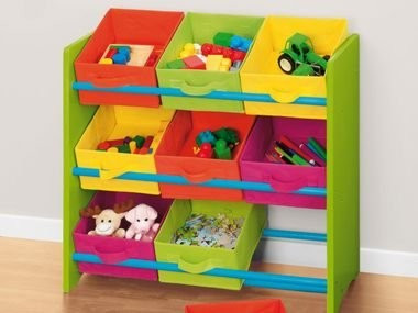 raft etajera organizator jucarii 9 cutii pt depozitare. Black Bedroom Furniture Sets. Home Design Ideas