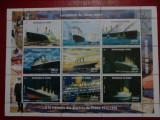 Guineea Vapoare Titanic bloc mnh 1998, Nestampilat