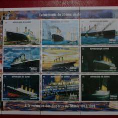 Guineea Vapoare Titanic bloc mnh 1998 - Timbre straine, Nestampilat