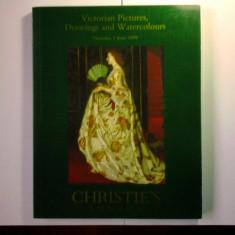 ALBUM CATALOG LICITATIE CHRISTIE'S TABLOURI/DESENE/ACUARELE VICTORIENE