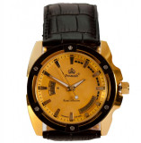 Ceas de Lux Promado Herakles - Royal Collection , gold - black, mecanism japonez HATTORI ~ placat cu aur  ~ ! ! !, Elegant, Quartz