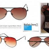 Ochelari de soare Lee Cooper C Aviator Snr32 originali rama neagra lentile maro degrade unisex  Protectie UV