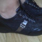 Pantofi din piele firma VALLEVERDE marimea 37,purtati o singura data!