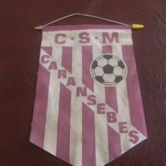 Fanion fotbal- C.S.M Caransebes, de colectie !