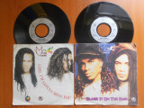 Raritate! 2 Discuri Vinyl Milli Vanilli - Girl i'm gonna miss you,Blame it on the rain.1989, Hansa,Germany.Stereo,45rpm.(Vinil de colectie,pick-up), virgin records